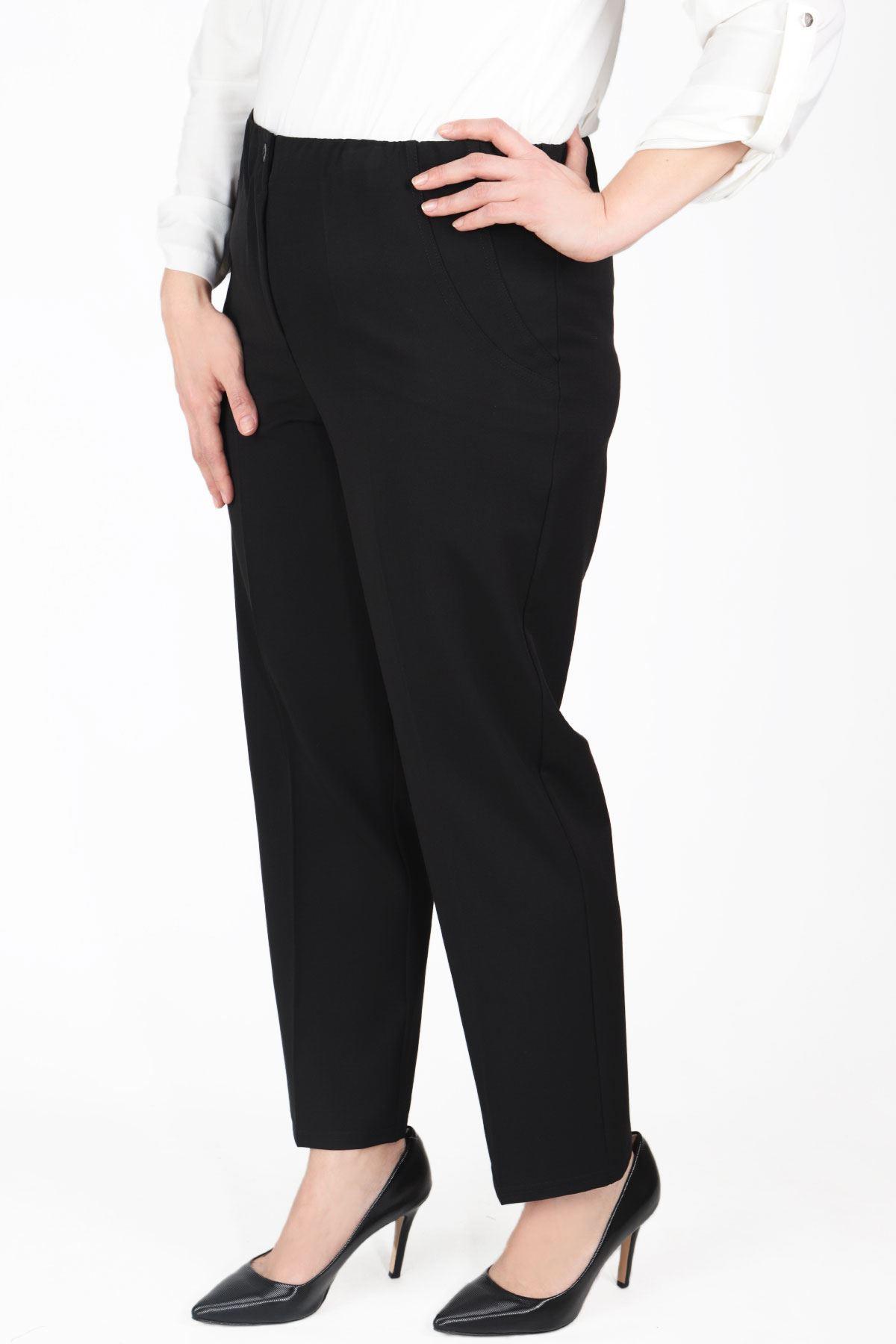 Büyük Beden Pantolon Siyah B472