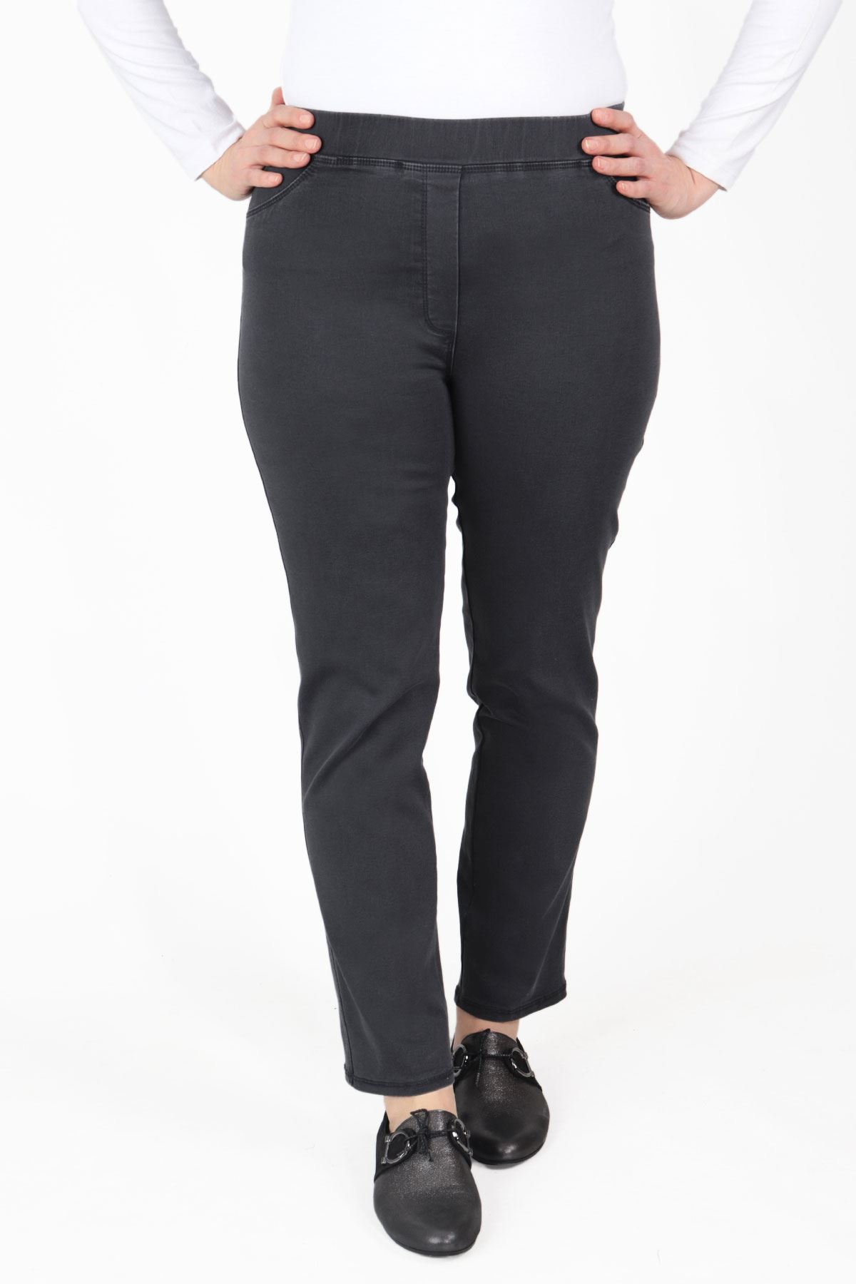 Büyük Beden Pantolon Füme B652