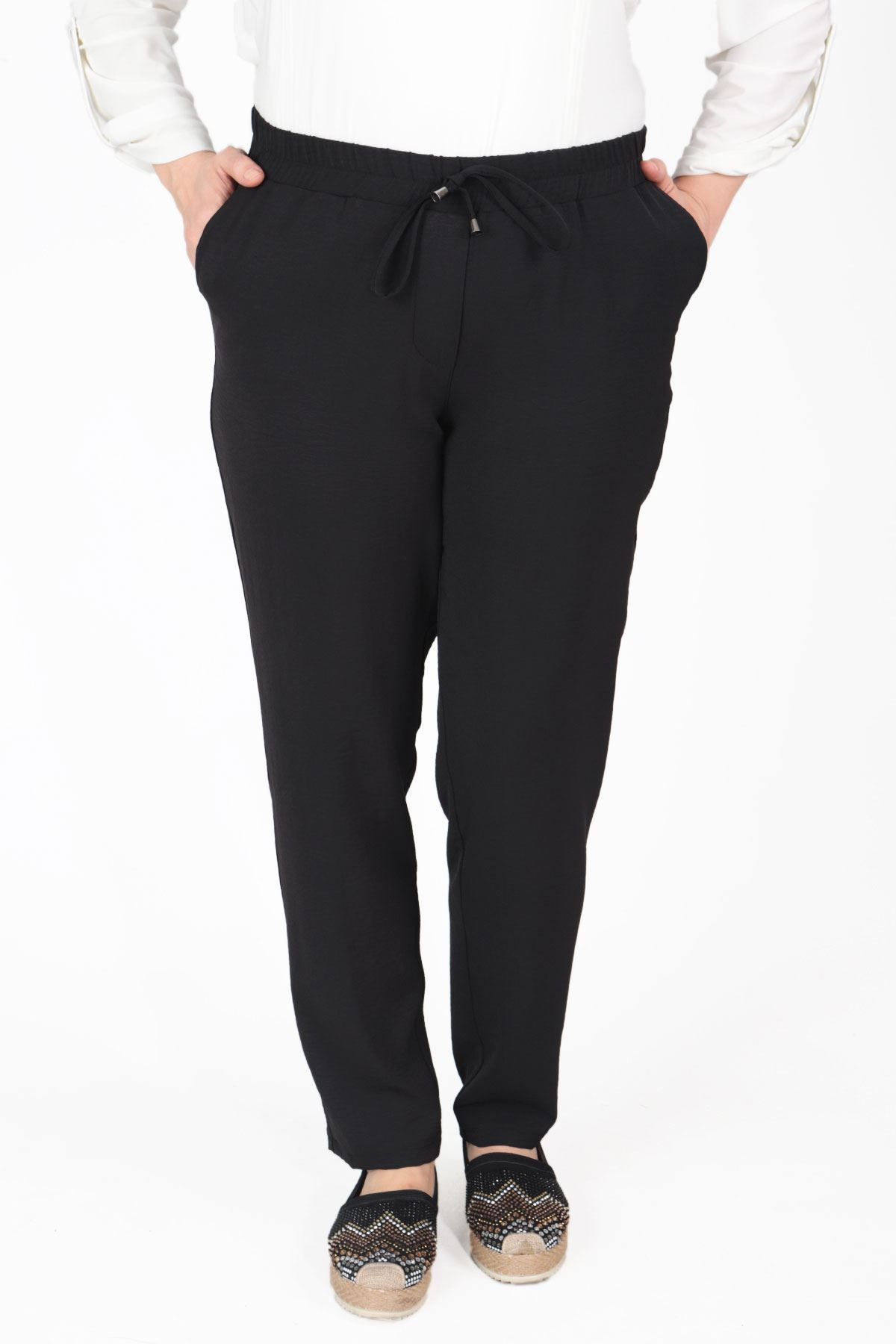 Büyük Beden Pantolon Siyah B695